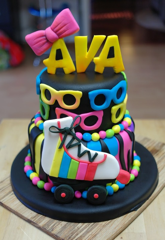 A Totally Rad 80s Birthday Cake